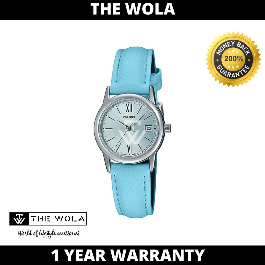 Casio Women's Analog LTP-V002L-2B3 Blue Leather Watch