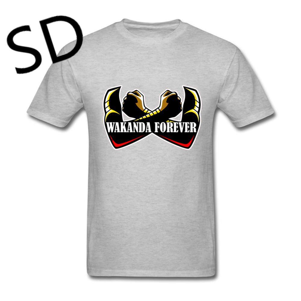 aca54b2ecdc0 Wakanda Forever T Shirt Men Black Panther Milaje Tee Shirt Homme ...