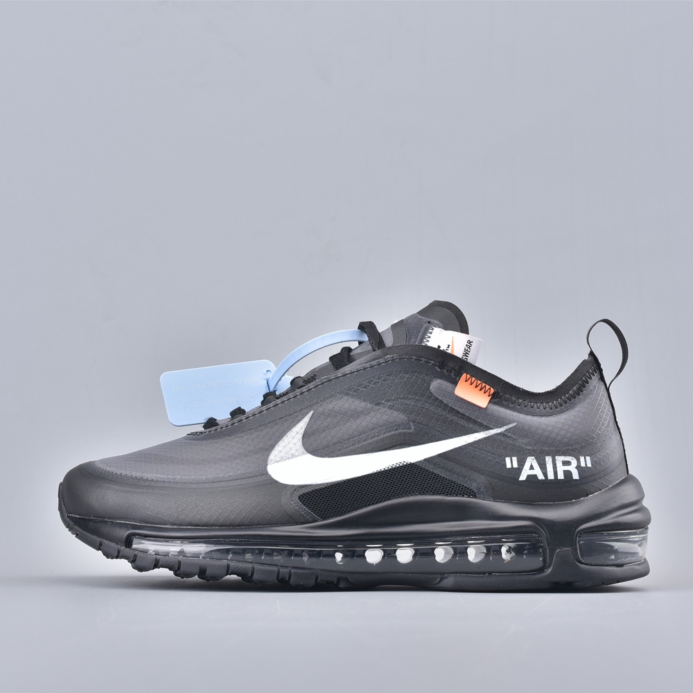 online store 1369b 09d15 Nike Air Max 97 Off-White Black THE TEN Sport Shoes02