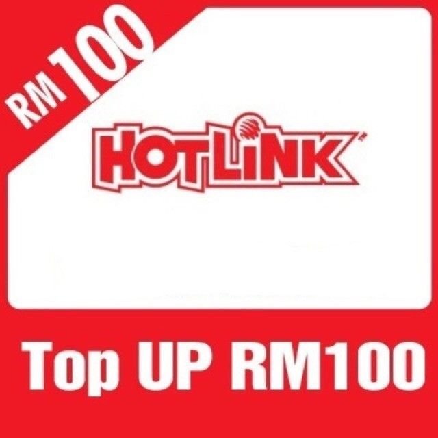 Maxis Hotlink Rm100 Reload Topup For Only Rm98 99 Shopee Malaysia