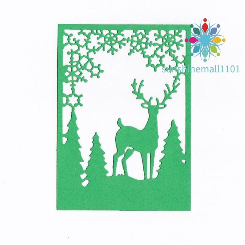 Metal Christmas Tree Elk Snowflake Cutting Dies Stencil Scrapbook Embossing Gift