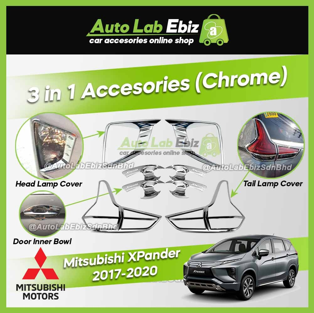 Mitsubishi XPander 2017-2020 Head Lamp Cover/Tail Lamp Cover/Door Inner Bowl (3 in 1) (Chrome)