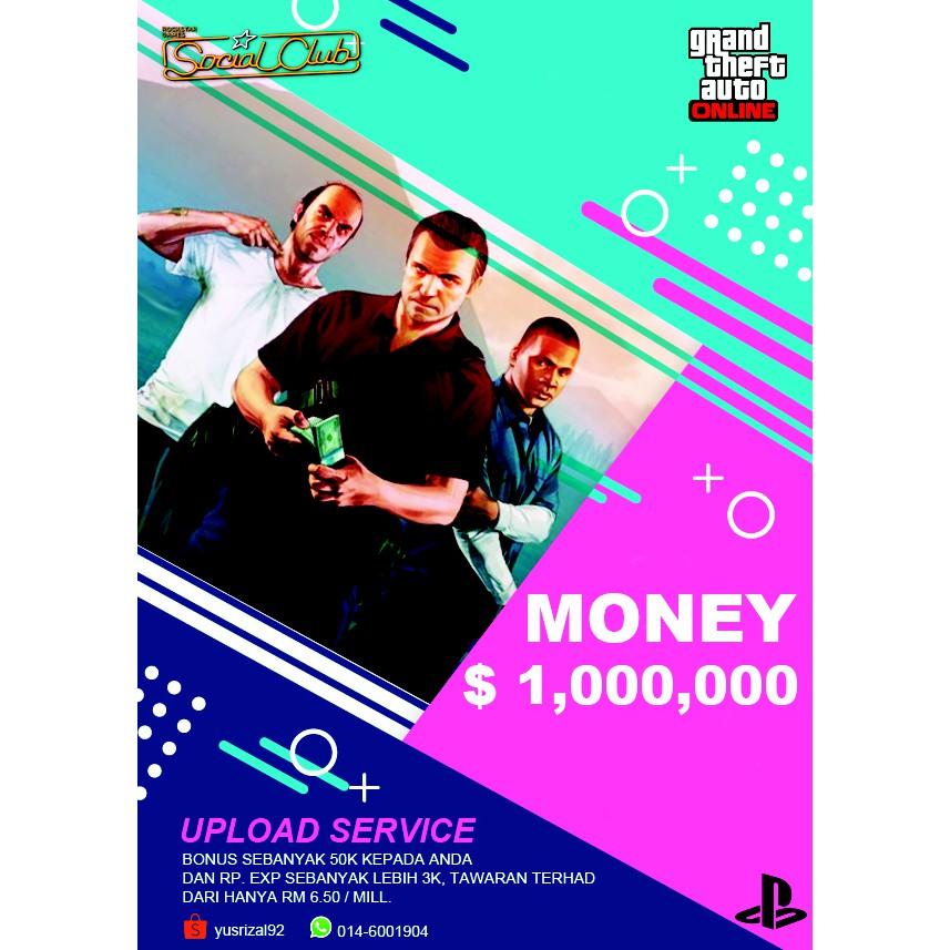 MONEY GTA V - GTA 5 ONLINE PS4 PLATFORMS (RM 6 50 = 1 MILLION)