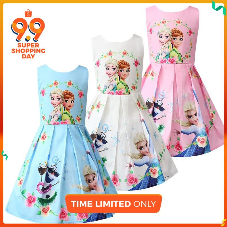 a3637bb28b Long Dress Dress Birthday Frozen Princess Dress Dress Girl Kids Dress  Clothing