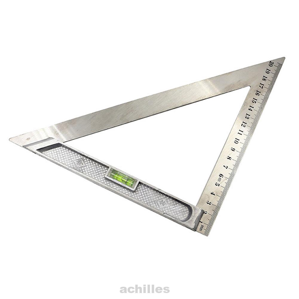 Stainless Steel Triangle Ruler Level Ruler Carpenter Measuring Tools Woodworking
