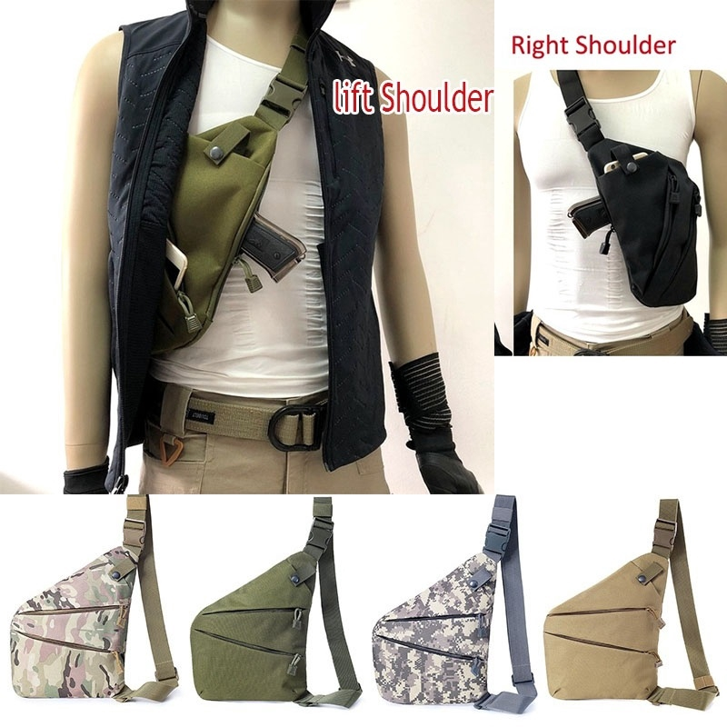 Shoulder Tactical Storage Anti-theft Pouch  Nylon Holster Concealed Chest Bag