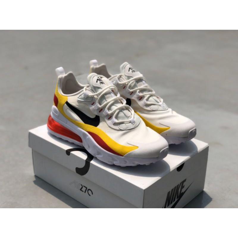 Nike Air Max 270 React Shoes (Whiteredyellow) Premium - 36-45 EURO