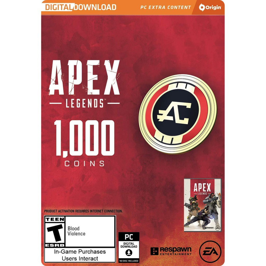[PC GAME] Apex Legends 1000 Coins CDK