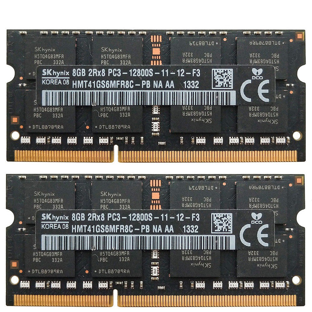 8GB For SK Hynix 2X 4GB PC3-12800 DDR3 1600MHz 204PIN SODIMM Laptop Memory RAM