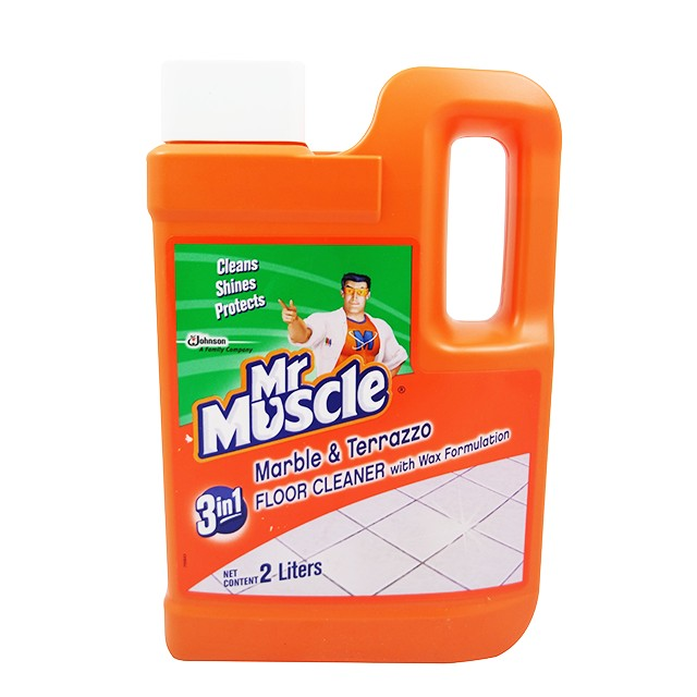 Mr Muscle 3 In 1 Marble Terrazzo Floor Cleaner With Wax Formulation 2l