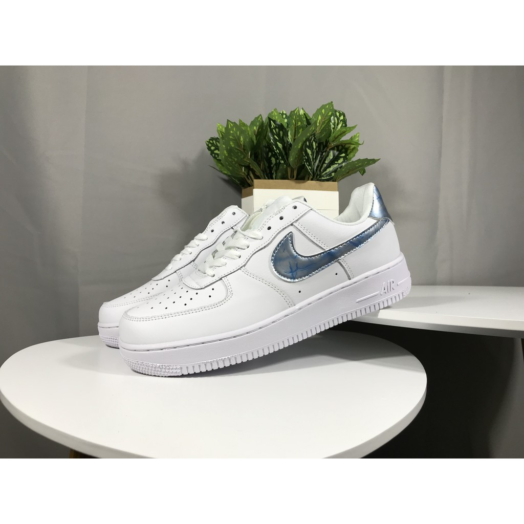 OFF White x Nike Air Force 1 Low AF1 Original Blue Sports Running Shoes For Women Mens