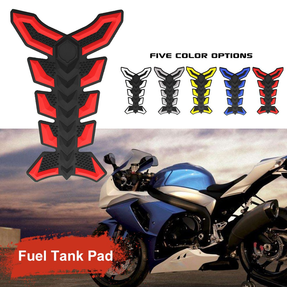 1X Motorcycle Universal Tank Pad Protector Sticker Decal Gas Fuel Oil Tank Cover