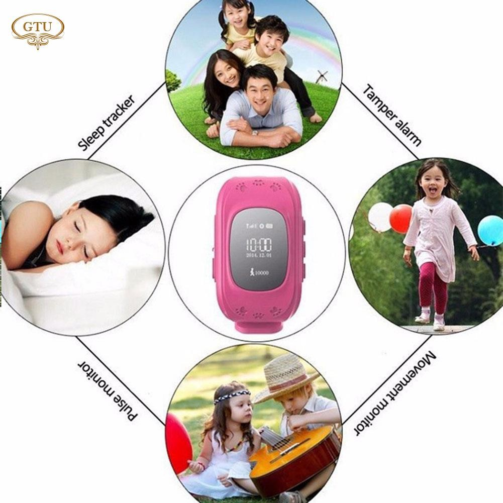 GTU Bluetooth Kids Smart Watch GPS SOS Call Activity Tracker Safe Phone  Watch