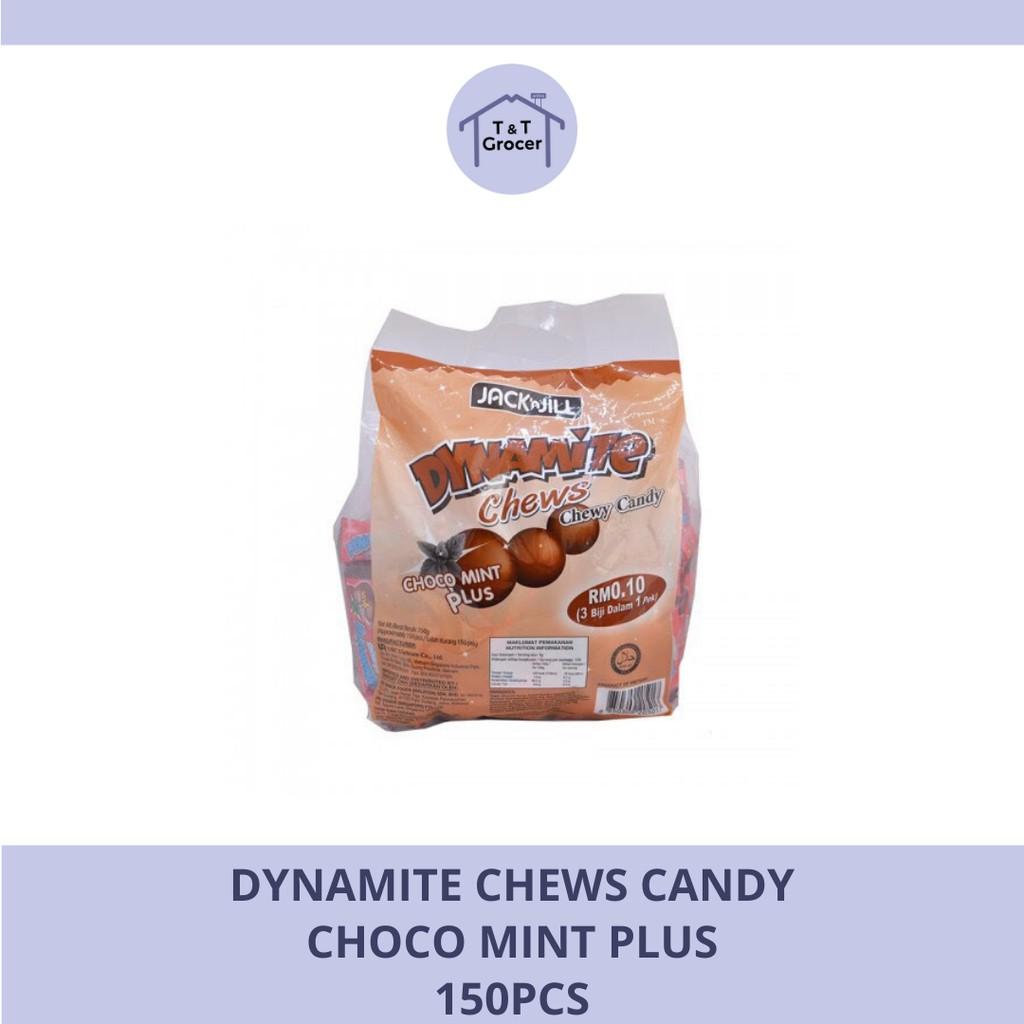 Dynamite Chews Candy 150pcs (Choco Mint Plus/ Choco Filled Mint)
