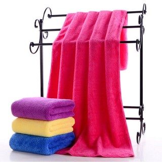 2pcs Thick Double Sided Super Soft Coral Fleece Towel Absorbent Bath Towel Gifts