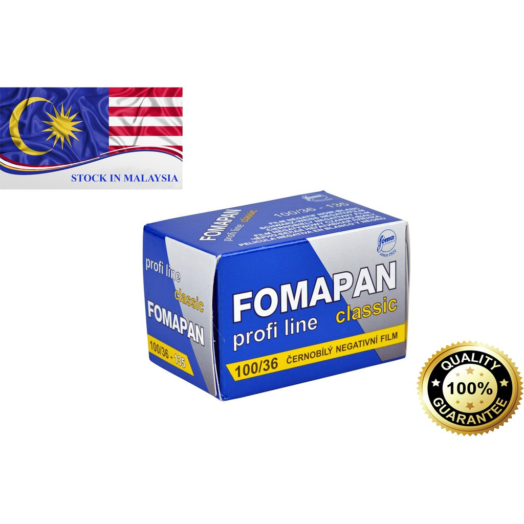 Fomapan 100 Black and White Negative Film (35mm Film, 36 Exposure) (Ready Stock In Malaysia)