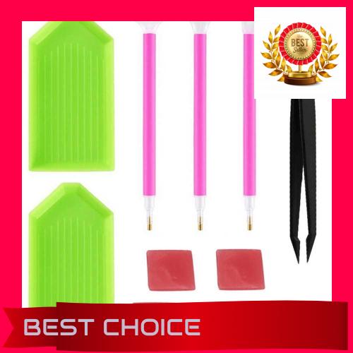 11Pcs//set Tray Cross Stitch Point Drill Pen Tweezer 5D Diamond Painting Tools