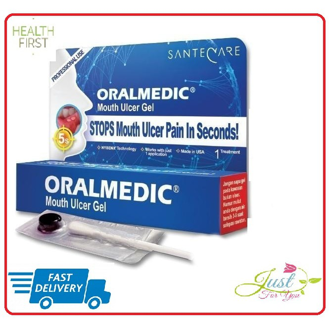 Oralmedic Mouth Ulcer Gel ( 2 units oralmedic ) new exp date 10/2022