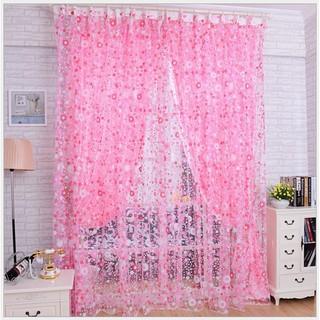 tirai jendela pemisah ruangan kain pual tipis transparan