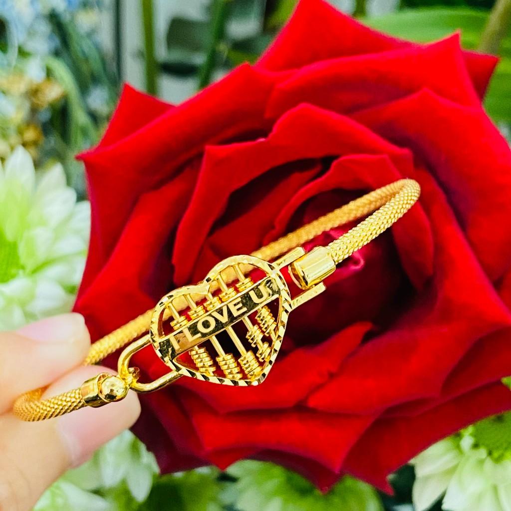 Gelang Emas Love Sempua/Love Abacus Bangle (Emas 916)