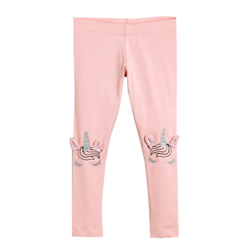 Elastic Pink Unicorn Cotton Long Sweatpants for Youth Jogger Pants for Youth