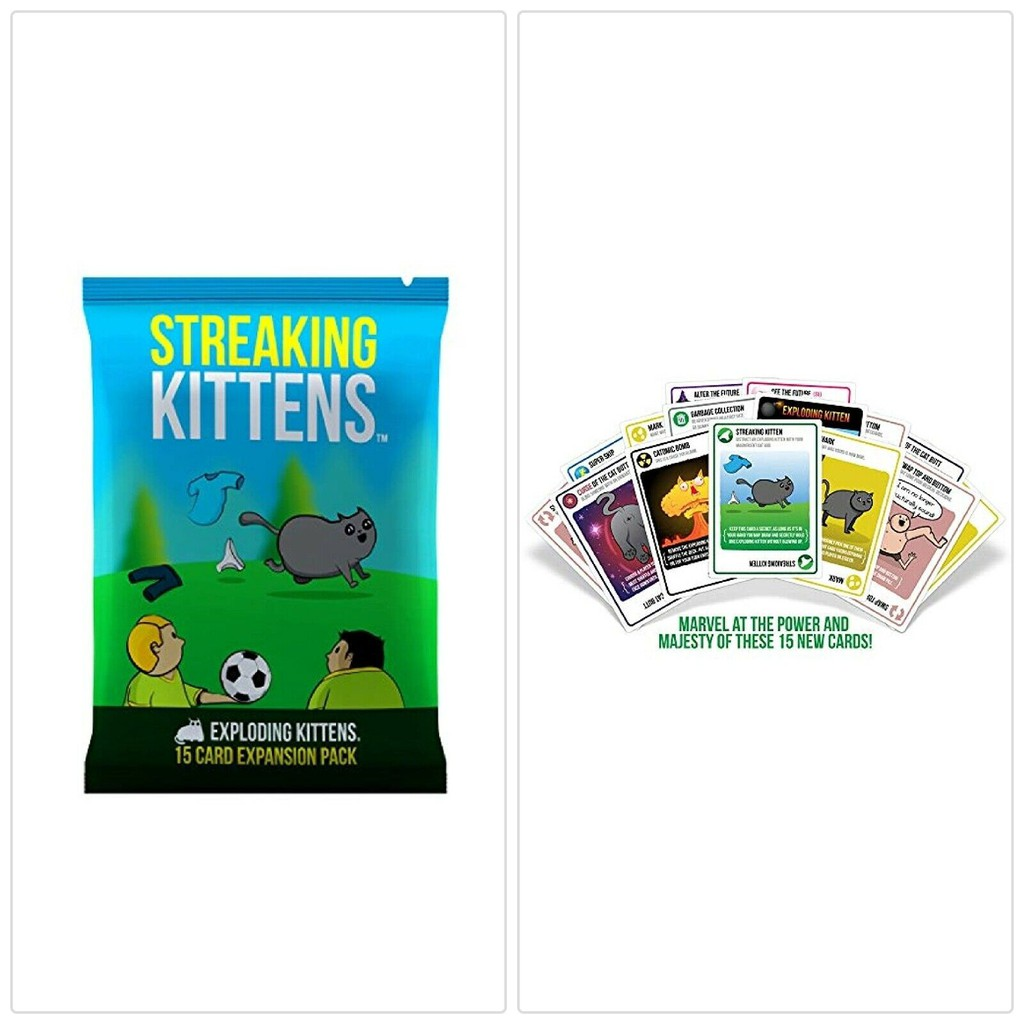 Streaking Kittens The 2nd Expansion Card Set *Exploding Kittens Game *New