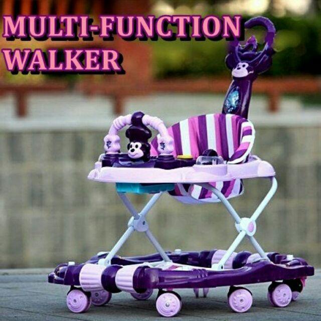 Multifunction Baby Walker To Rocker Purple Shopee Malaysia