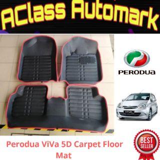 5D Carpet Floor Mat Perodua Viva  Shopee Malaysia