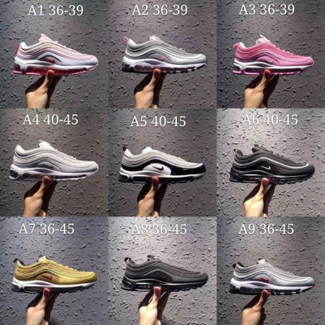 ??READY STOCK??Nike Air Max 97 OG silver Bullet men and women scarpa Hot Selling