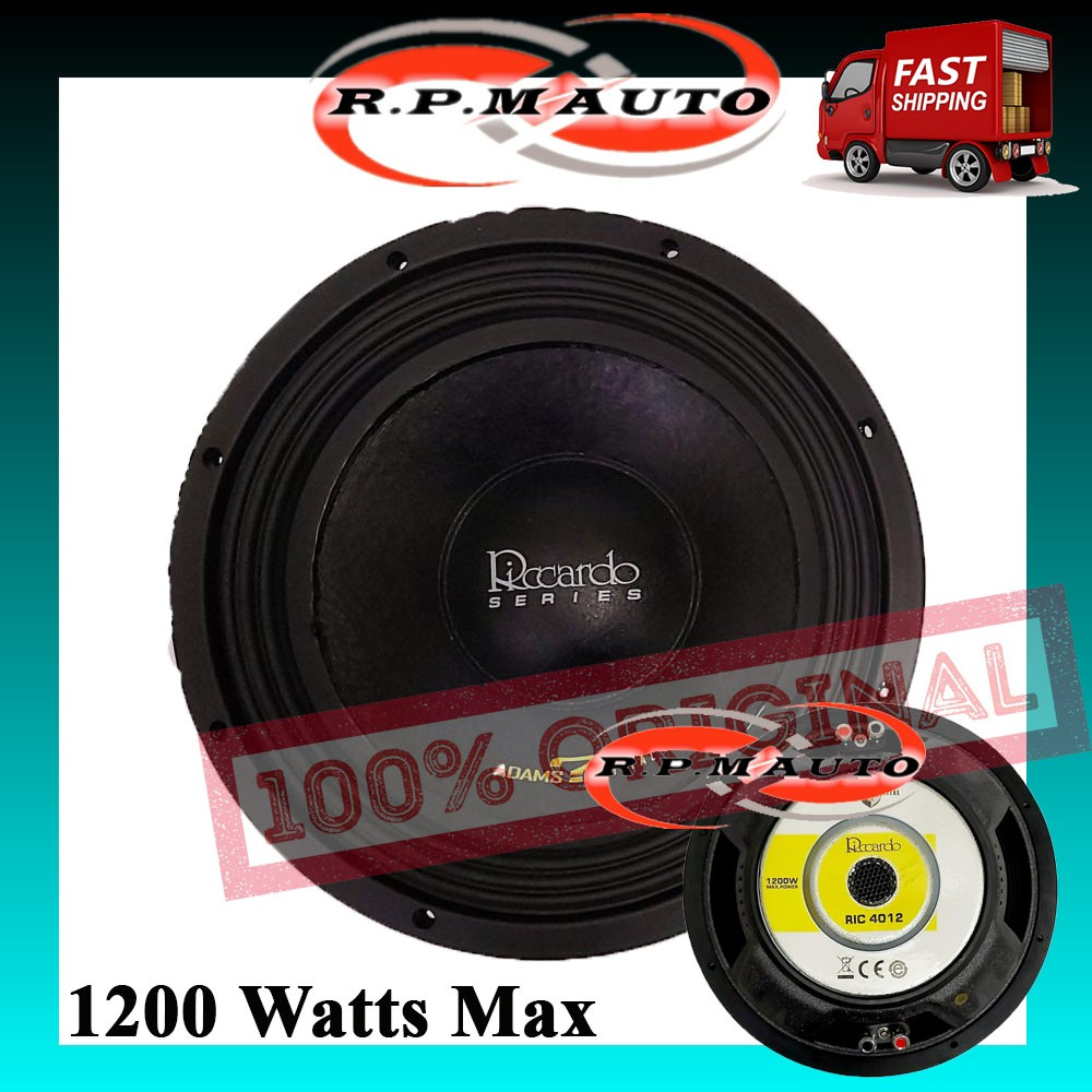 Adams Digital 12 Inch Subwoofer Riccardo Series RIC 4012 1200W Max double magnet double coin