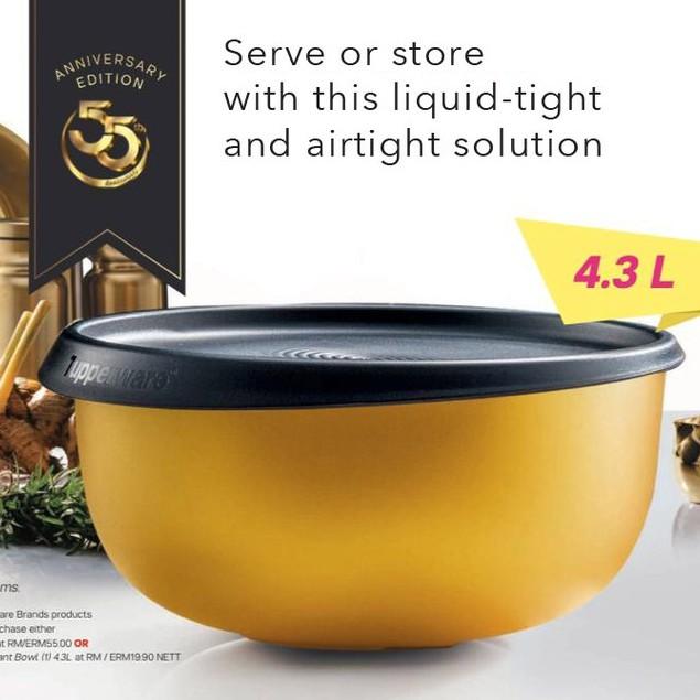 Tupperware 55th Anniversary Jubilant Bowl 4.3L / Grand Royale Bowl 4.3L- Limited Edition