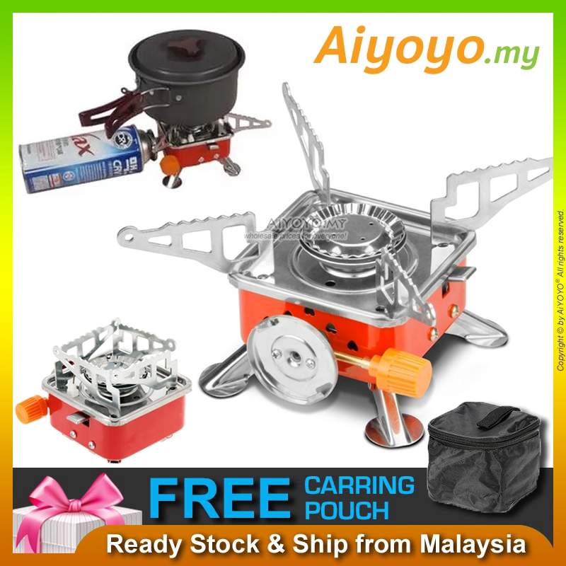 Portable Outdoor Camping Stove Picnic Gas Cooking Windproof Hiking Gasstove