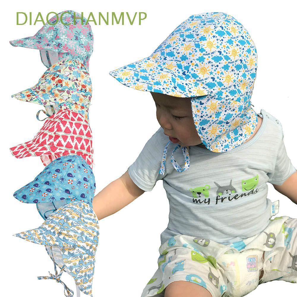 Kids Children Quick Dry Breathable Swim Hat Anti-UV Baby Sun