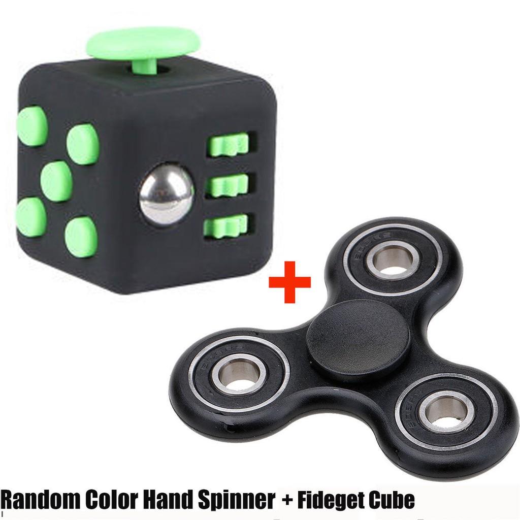 Hand Fidget Spinner Or Fidget Cube ADHD Autism Focus Desk Toy Stress Reliever