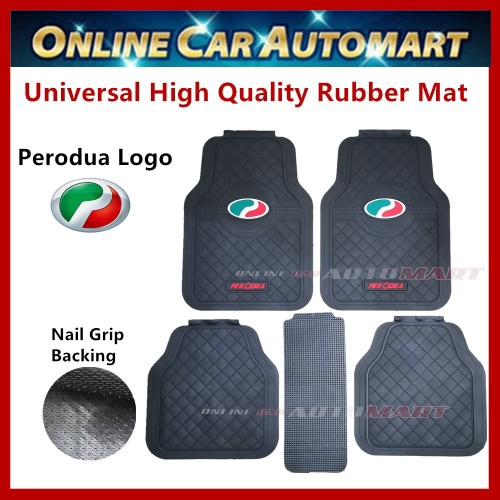 Universal High Quality Rubber Spike Nail Backing With Perodua Logo Floor Mat