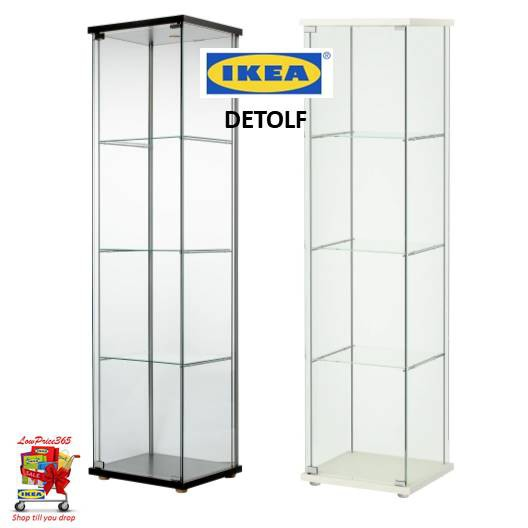 Special Price Rm189 Ikea Detolf Glass Door Cabinet White Or Black