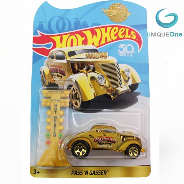Hot Wheels 50th Pass 'N Gasser™ (GOLD) limited Edition Rare diecast model  1/64 Collectors Edition