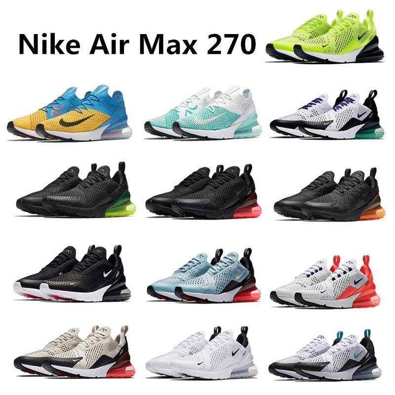 reputable site 068a6 6c73f Original Nike Air Max 270 Unisex Running Sport Sneaker Shoes