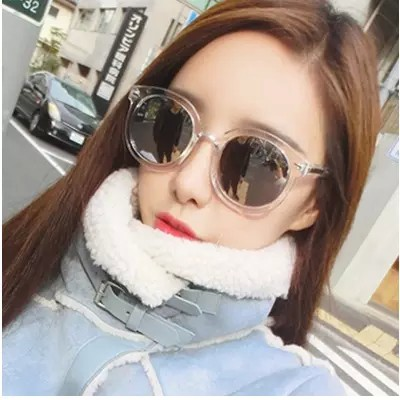 4410fbd237 Sunglasses female 2018 new UV Korean tide network red polarized sunglasses  round face retro Harajuku style glasses