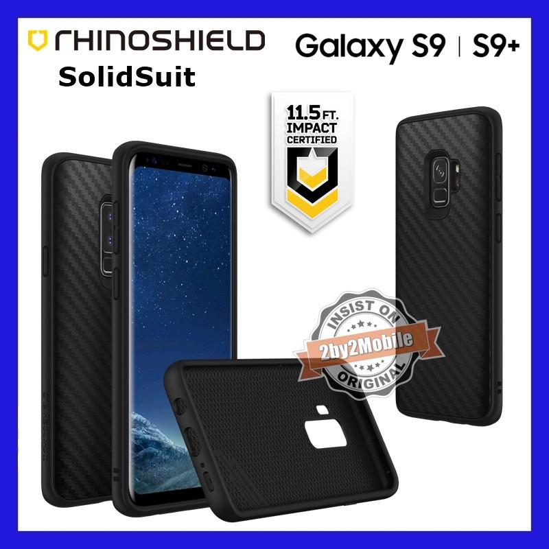 wholesale dealer 151a5 bfaa1 Original RhinoShield SolidSuit Protective case Galaxy S9 S9+ Plus carbon  fiber