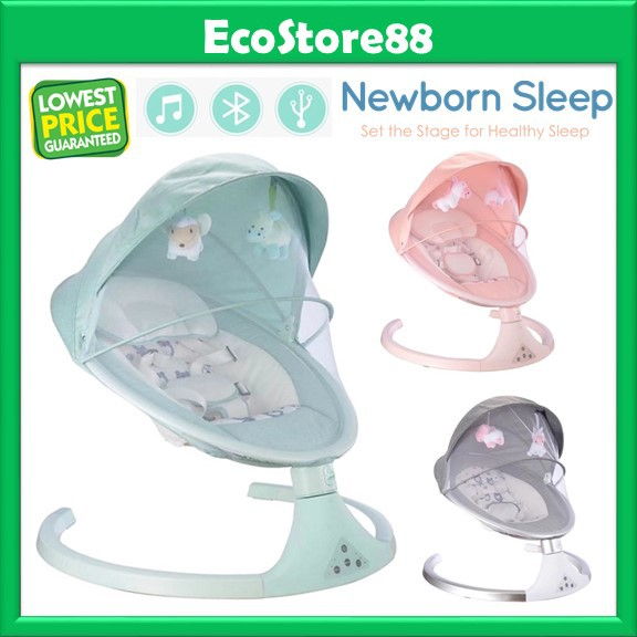 Incredible Portable Automatic Baby Auto Swing Leaf Smart Rocker Baby Bouncer Newborn Rocking Chair Automatic Cradle Machost Co Dining Chair Design Ideas Machostcouk