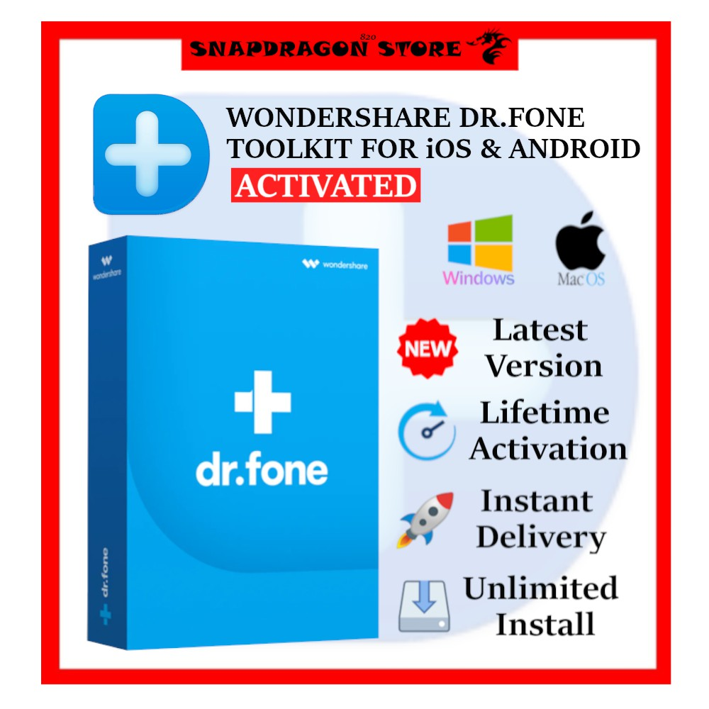 Wondershare Dr Fone Toolkit For Ios  U0026 Android  U2013 Complete