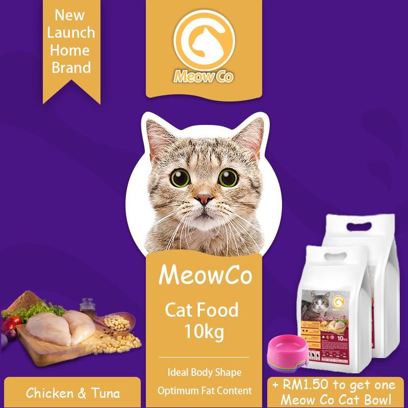 Meow Co Chicken & Tuna 10kg Cat Food / Makanan Kucing / Makanan Kucing Murah / Cheap Cat Food