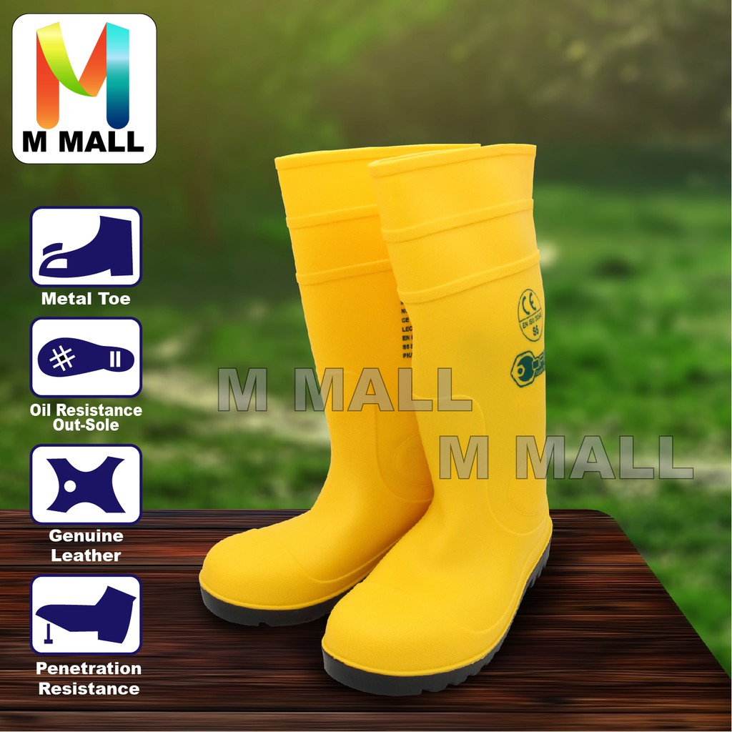 97dd4926c1d M MALL OREX YELLOW SAFETY RAIN BOOTS WITH STEEL TOE