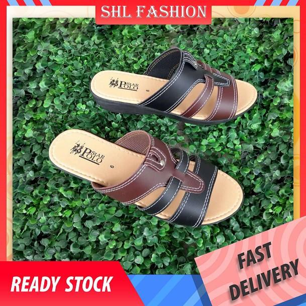 SHL Fashion Women Designer Sandals Linen Beach Ladies Sandals Selipar Wanita size 35-40