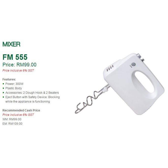 Faber Hand FOOD FLOUR Mixer FHM 555 MIX