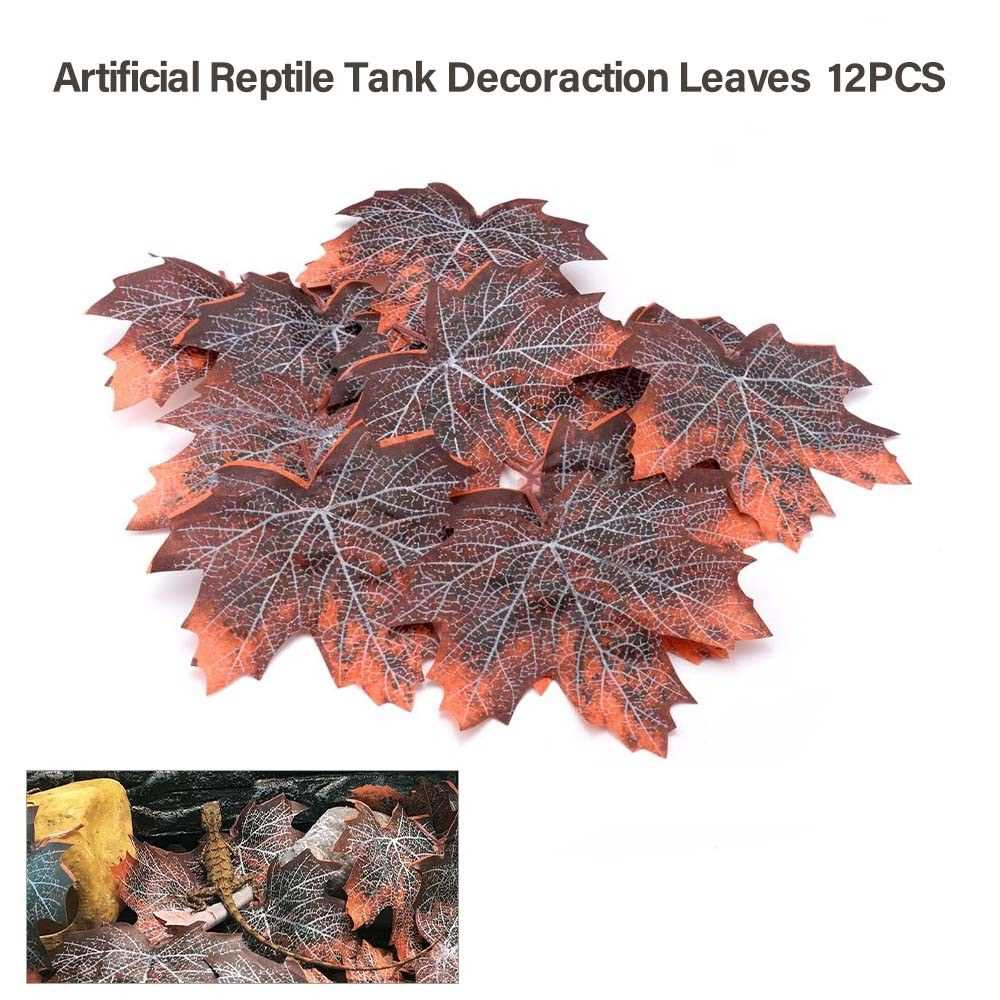 Artificial Reptile Tank Plants Climbing Leaf Decoration for Lizards Frogs Snakes Spider and Other Reptiles (Standard)