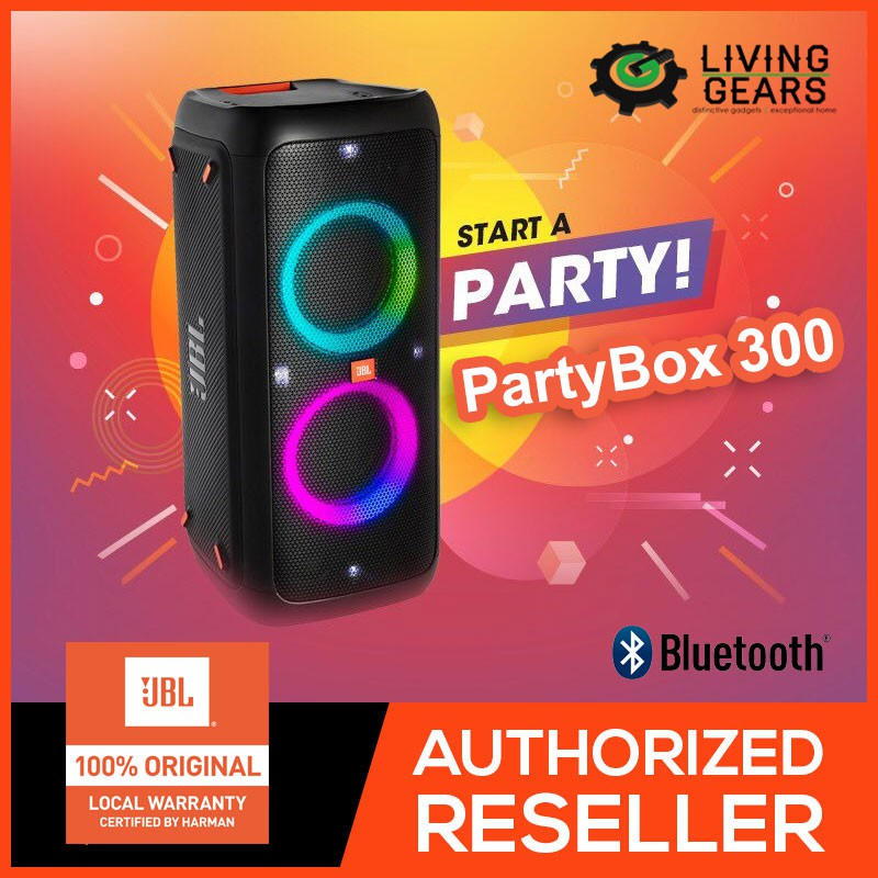 Original JBL Partybox 300 Bluetooth Portable Party Speaker wt Light Effects