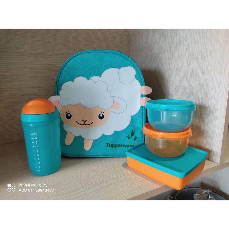 Tupperware Back to school set (Sheep) Turqoise colour Full set