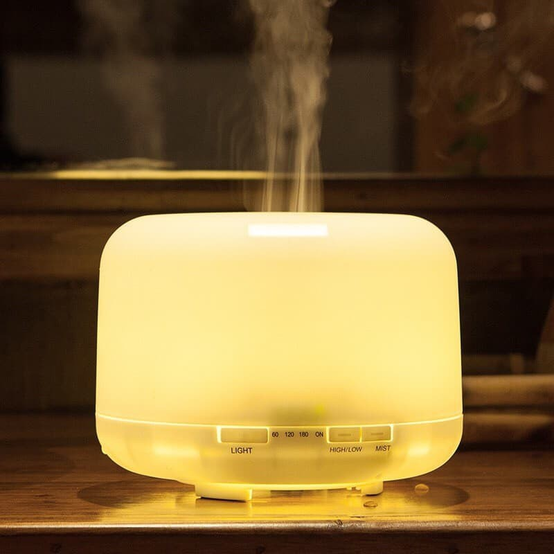 500ml Air Humidifier Essential Oil Diffuser Aroma Aromatherapy With ColorLamp